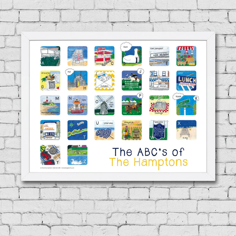 ABC's of the Hamptons Framed Art Print