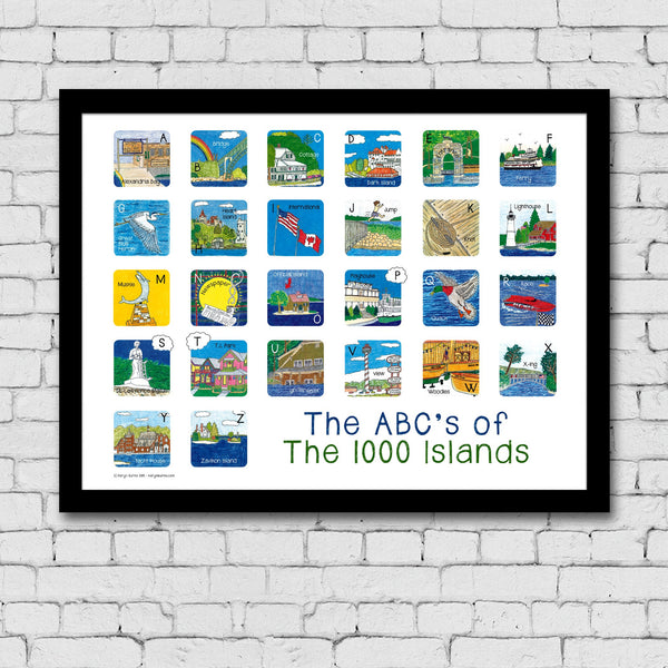 The ABC's of the 1000 Islands Print