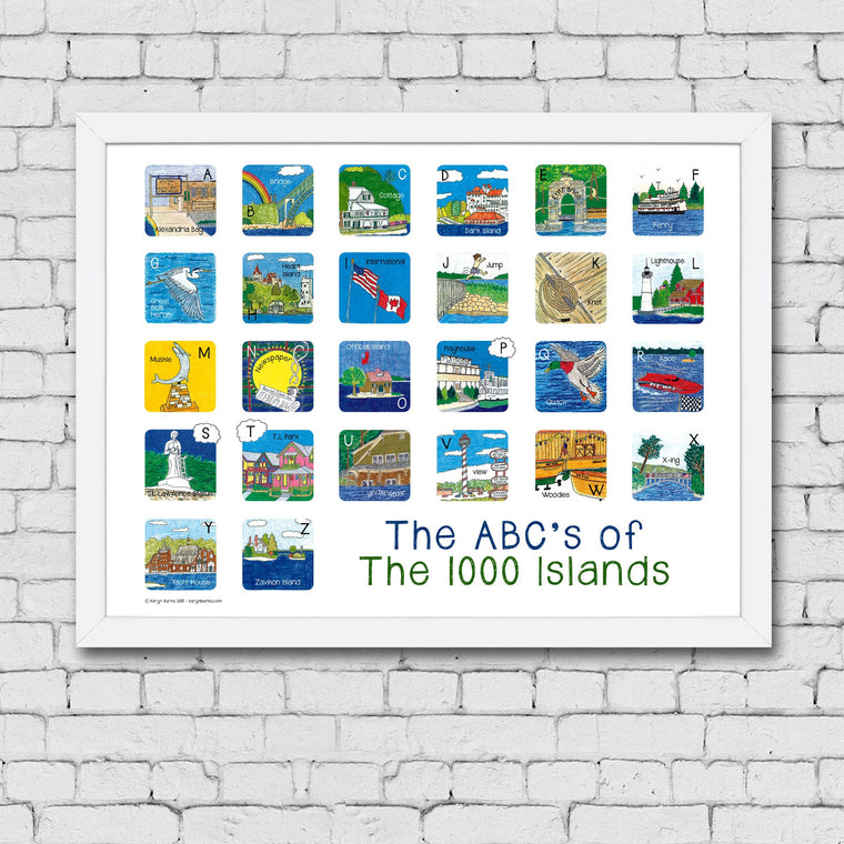 ABC's of the 1000 Islands Framed Art Print