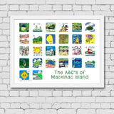 ABC's of Mackinac Island Framed Art Print