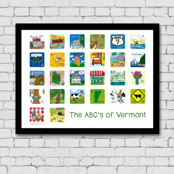 The ABC's of Vermont Print