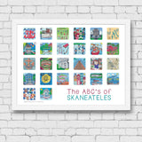 ABC's of Skaneateles Framed Art Print