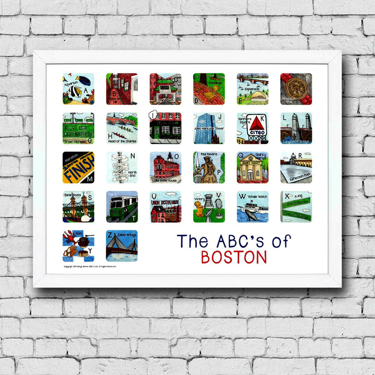 ABC's of Boston Framed Art Print
