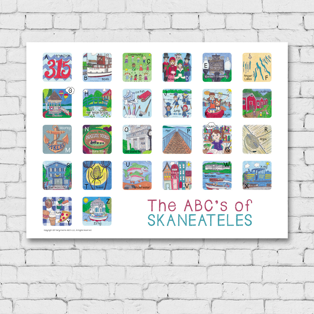 The ABC's of Skaneateles Print
