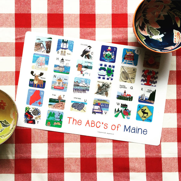 ABC's of Maine-Children's Placemat