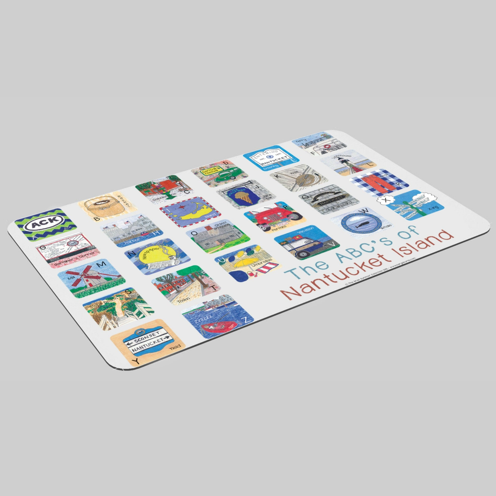 ABC's of Nantucket Island-Children's Placemat