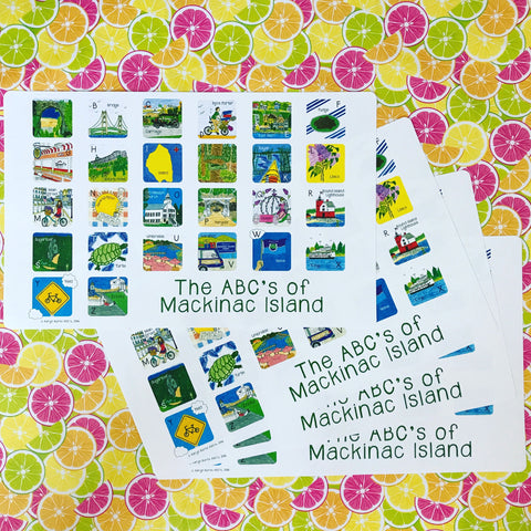 ABC's of Mackinac Island-Children's Placemat