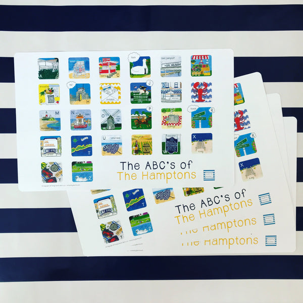 ABC's of the Hamptons-Children's Placemat
