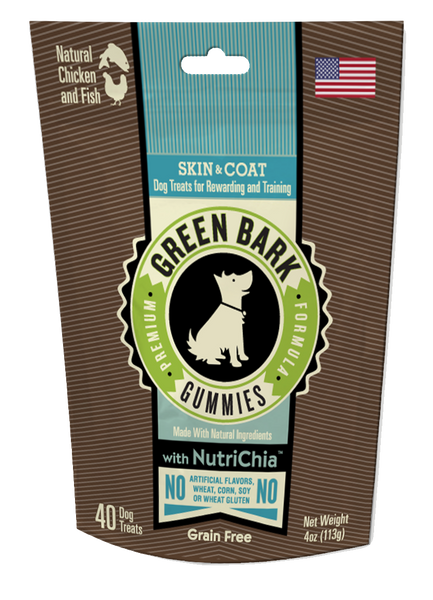 Green Bark Gummies: Skin & Coat with Chicken & Fish
