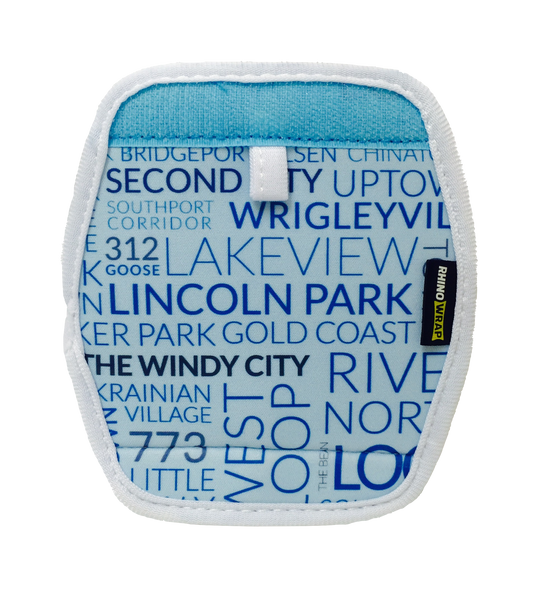 DESIGN Chicago Luggage Locators (Quantity 8) Reversible: Chicago Neighborhoods