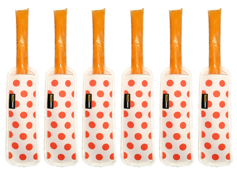 Popsicle Koozies (Orange, Quantity 6)