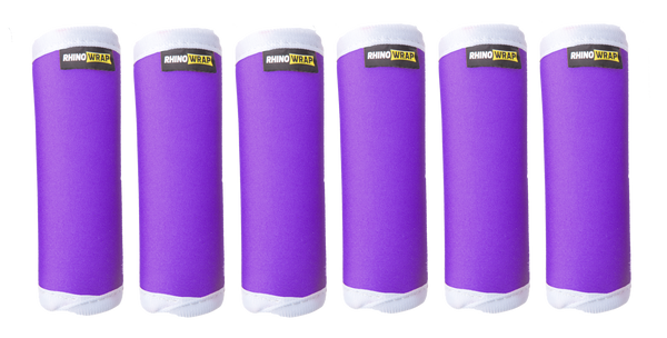 DOTS! Purple Luggage Locators (Quantity 12) Reversible: Solid Purple
