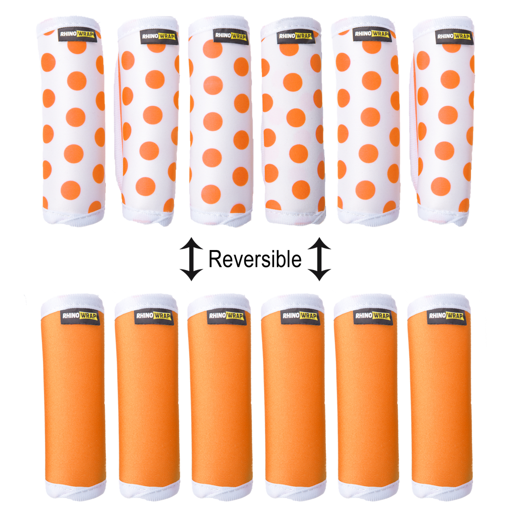DOTS! Orange Luggage Locators (Quantity 12) Reversible: Solid Orange