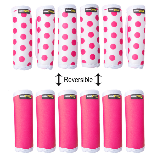 DOTS! Pink Luggage Locators (Quantity 12) Reversible: Solid Pink