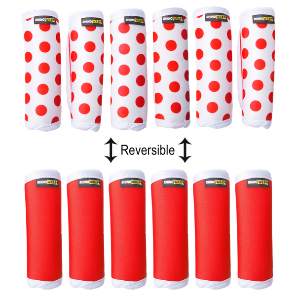 DOTS! Red Luggage Locators (Quantity 12) Reversible: Solid Red