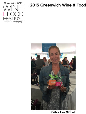 Kathie Lee Gifford enjoying Connecticut Cookie Company goodies at Greenwich Food and Wine Festival 2015