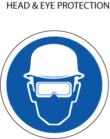 Mandatory Action: Hard Hat and Eye Protection