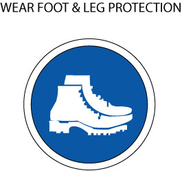 Mandatory Action: Foot and Leg Protection