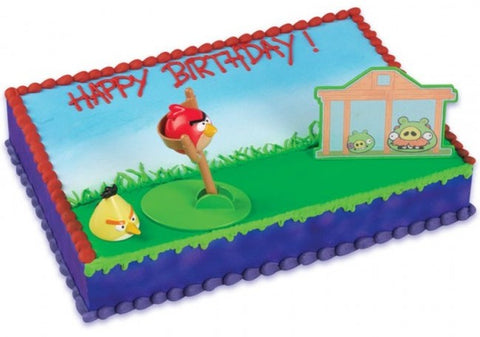 Angry Birds Custom 1/4 Sheet Cake- Serves 20