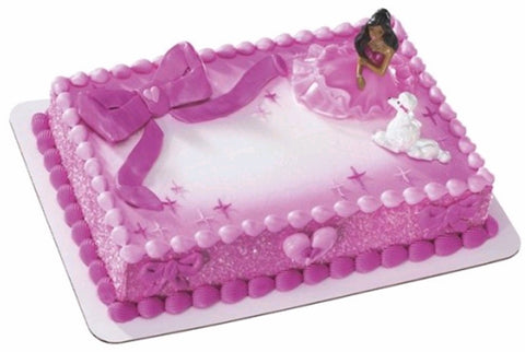 Barbie- African American (fashion pink) Custom 1/4 Sheet Cake- Serves 20