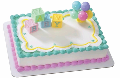 Baby Blocks Custom 1/4 Sheet Cake- Serves 20