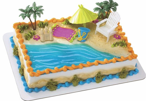 Beach Chair Custom 1/4 Sheet Cake- Serves 20