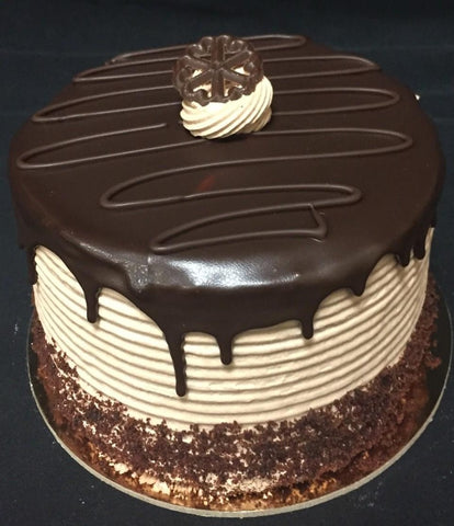 "Cake, 6"" Chocolate Shadow Layer"