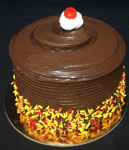 "Cake, 6"" All Fudge Yellow Layer"