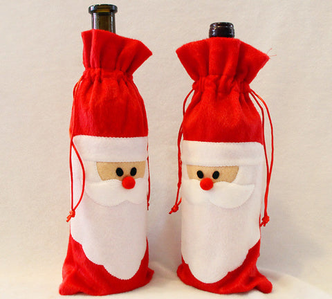 *50% OFF* SANTA WINE BOTTLE COVER CHRISTMAS DECORATION