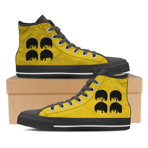 The Beatles Mens High Top Shoes (Blk)