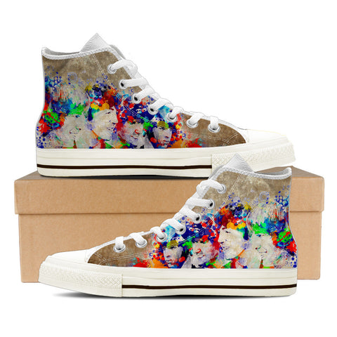 The Beatles Artistic Ladies High Top Shoes (White)