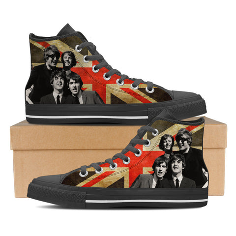 The Beatles Womens High Top Shoes (Blk)