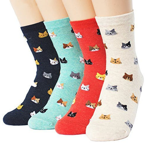 Back To Search Results For Cat Socks - Women's Mini Cats Series Socks 4pack