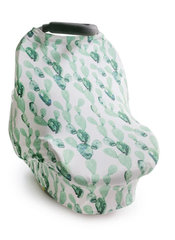 New Multi Use Car Seat & Nursing Cover, Green Cactus