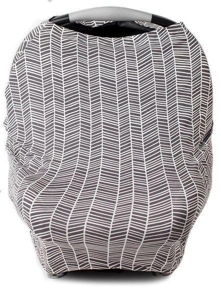 New Multi Use Car Seat & Nursing Cover, Grey/White