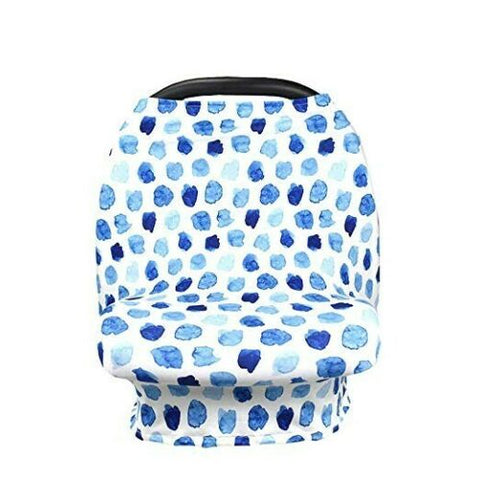 New Multi Use Car Seat & Nursing Cover, Blue Watercolor
