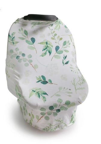 New Multi Use Car Seat & Nursing Cover, White Floral