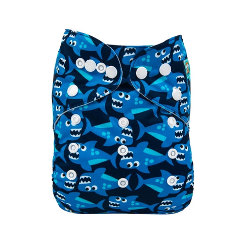 New Alva Baby Cloth Diaper, Sharks
