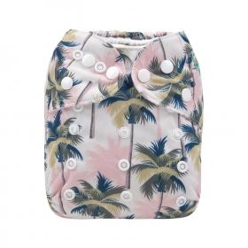 New Alva Baby Cloth Diaper, Palm Trees