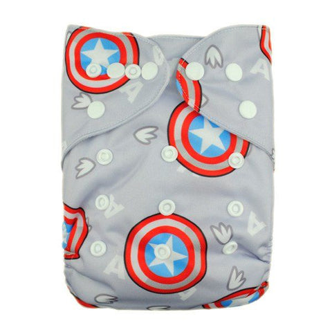 New Alva Baby Cloth Diaper, Captain America