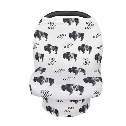 New Multi Use Car Seat & Nursing Cover, Buffalo