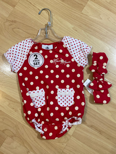 New Disney Parks Bodysuit & Headband Set, Size 6M