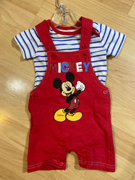 Disney Mickey Jumpsuit, Size 3-6M