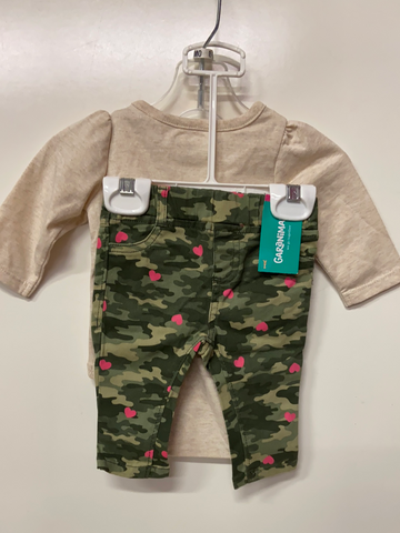 New Garanimals 2pc Set, Size 0-3M