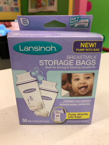 New Lansinoh Storage Bags, 50ct