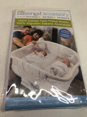 New Halo Bassinet Twin Fitted Sheets