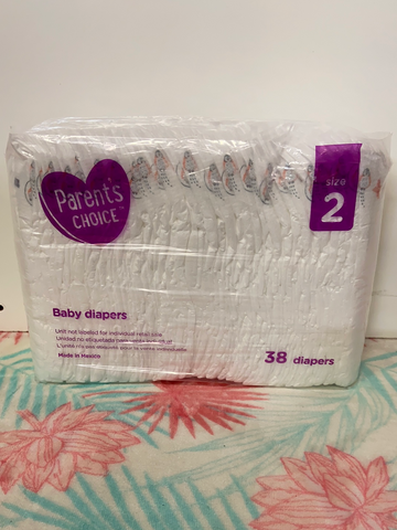 New Parent's Choice Diapers, Size 2