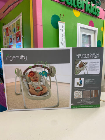 New Soothe n' Delight Portable Swing