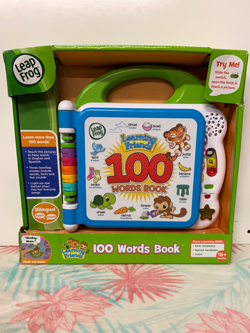 New LeapFrog Learning Friends 100 Words Book