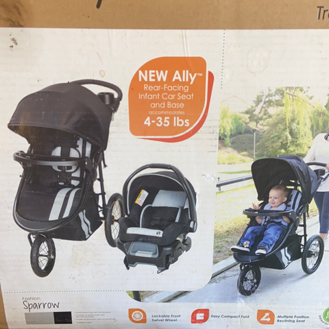 New Baby Trend Cityscape Jogging Single Stroller Travel System